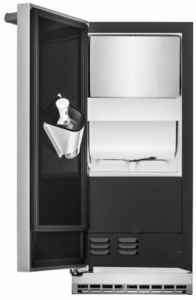 UL15IM20RS Electrolux 15'' Ice Maker with Drain Pump - Left Hinge Door - Stainless Steel
