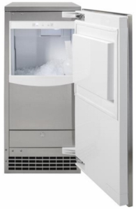 "UNC15NJII GE 15"" Built -In Clear Nugget Ice Maker - Custom Panel"