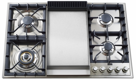 "UXLP90F Ilve 36"" Natural Gas Cooktop - Stainless Steel"