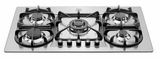"V36500X Bertazzoni Professional Series 36"" Gas Cooktop with 5 Burners - Stainless Steel"