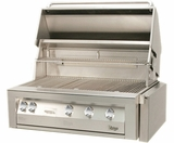 "VBQ42SZG Vintage 42"" Gold Built-in Grill with Sear Zone - Natural Gas - Stainless Steel"