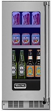 "VBUI5150GLSS 15"" Viking Professional 5 series Undercounter Full Size Beverage Center with Electronic Controls and Dynamic Cooling Technologies - Left Hinge - Stainless Steel"