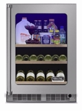 "VBUI5240GRSS 24"" Viking Professional 5 series Undercounter Full Size Beverage Center with Electronic Controls and Dynamic Cooling Technologies - Right Hinge - Stainless Steel"