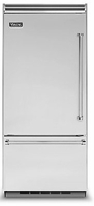 """VCBB5363EL Viking 36"""" Professional Bottom Mount Refrigerator with ProChill Temperature Management - Left Hinge - Stainless Steel"""
