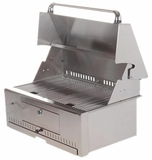 "VCG30 Vintage 30"" Charcoal Grill Head - Stainless Steel"