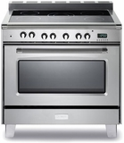 "VCLFSEE365SS Verona 36"" Classic Electric Range with Single Oven & Black Ceramic Glass Cooktop - Stainless Steel"