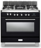 "VCLFSGE365E Verona Classic 36"" Dual Fuel Single Oven Range with 5 Sealed Burners - Black"