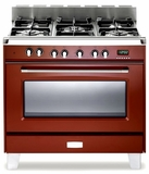 "VCLFSGE365R Verona Classic 36"" Dual Fuel Single Oven Range with 5 Sealed Burners - Red"