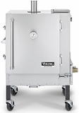 "VCPS364SS Viking 36"" Gravity Feed Charcoal Smoker with Heavy Duty Cooking Racks - Stainless Steel"