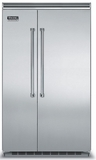"VCSB5483SS Viking 48"" Side by Side Built-in Refrigerator with Quiet Cool - Stainless Steel"