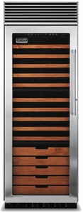 "VCWB301LSS Viking 30"" Built-in Full Height Wine Cellar with Pro Clear Glass - Left Hinge - Stainless Steel"