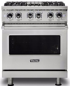 "VDR5304BSS Viking 30"" Professional 5 Series 4 Burner Dual Fuel Range with Varisimmer Pro Sealed Burner System and SureSpark Ignition - Stainless Steel"