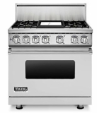 "VDR7364GSS Viking Professional 7 Series 36"" Dual Fuel Range - Natural Gas - 4 Burners and 12"" Griddle - Stainless Steel"