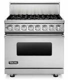"VDR7366BSS Viking Professional 7 Series 36"" Dual Fuel Range -  Natural Gas - 6 Burners - Stainless Steel"