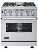 "VDSC5304BSS Viking 30"" Dual Fuel Self-Clean Sealed Burner Pro Style Range -  Natural Gas - Stainless Steel"