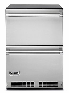 """VDUI5240DSS 24"""" Viking Professional 5 Series Undercounter Refrigerated Drawers with Dynamic Cooling Technology and LED Lighting - Stainless Steel"""
