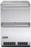 "VDUO5240DSS Viking 24"" Undercounter Outdoor Refrigerator Drawers with Efficient White LED Lighting - Stainless Steel"
