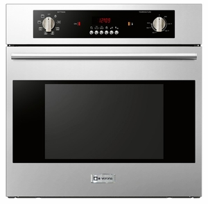 "VEBIEM241SS Verona 24"" Electric 110V Wall Oven with Electronic Controls and Convection Fan - Stainless Steel"
