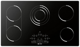 "VECTEM365 Verona 36"" Electric Radiant Smoothtop 5-Burner Cooktop - Black"