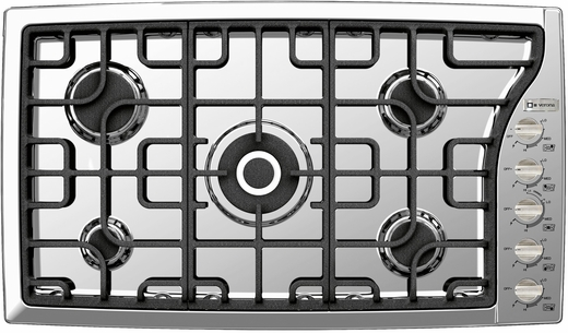 "VECTGMS365SS Verona 36"" Gas Cooktop with Side Controls - Stainless Steel"