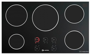 "VECTI365 Verona 36"" Electric Induction 5 - Zone Cooktop - Black"