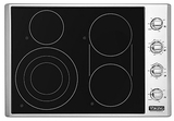 "VECU53014BSB Viking 30"" Professional 5 Series Electric Radiant 4 Burner Cooktop with Quickcook & Bridge Element - Black & Stainless Steel"
