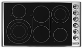 "VECU53616BSB Viking 36"" Professional 5 Series Electric Radiant 6 Burner Cooktop with Quickcook & Bridge Element - Black & Stainless Steel"