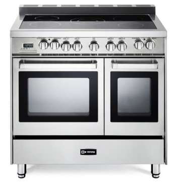 """VEFSEE365DSS Verona 36"""" Electric Double Oven Range with European Convection and Storage Drawer - Stainless Steel"""