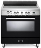 "VEFSEE365E Verona 36"" Electric Single Oven Range with Black Ceramic Glass Cooktop - Black"