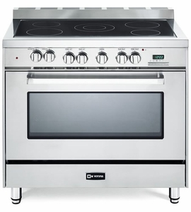 "VEFSEE365SS Verona 36"" Electric Single Oven Range with Black Ceramic Glass Cooktop - Stainless Steel"