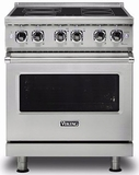 """VER5304BSS Viking 30"""" Free Standing Electric Range with QuickCook Elements and RapidReady Preheat - Stainless Steel"""