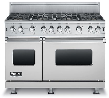 "VGCC5488BSS Viking 48"" Custom Sealed Burner Pro Style Range with 8 Burners - Natural Gas -  Stainless Steel"