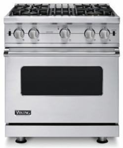 "VGIC53014BSS Viking Professional 5 Series 30"" Open Burner Gas Range with VariSimmer on All Burners - Natural Gas - Stainless Steel"