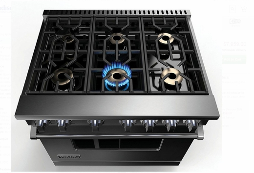 Vgr73616bss 36 Viking Professional 7 Series Gas Range With 6 Sealed Burners And Varisimmer Setting Stainless Steel