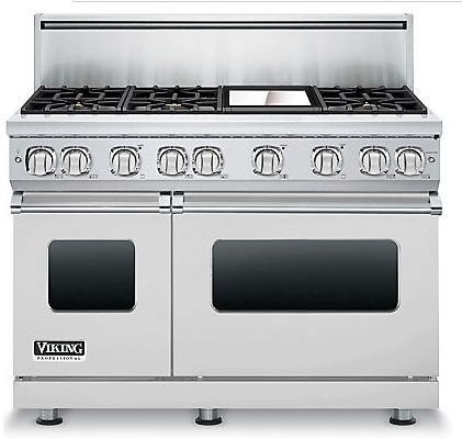 Vgr7486gss Viking Professional 7 Series 48 Gas Range 6 Burners With 12 Griddle Natural Stainless Steel