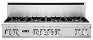 "VGRT7488BSS Viking Professional 7 Series 48"" Gas Rangetop - 8 Burners -  Natural Gas - Stainless Steel"