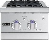 """VGSB5153LSS Viking 15"""" Wide Double Side Burners with Blue LED Illumination - LP Gas - Stainless Steel"""