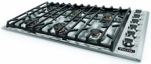 """VGSU5366BSS Viking Professional 5 Series 36"""" Gas Cooktop with 6 Burners - Natural Gas - Stainless Steel"""