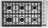 "VGSU5366BSSLP Viking Professional 5 Series 36"" Gas Cooktop with 6 Burners - LP Gas - Stainless Steel"