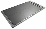 """VICU53616BST Viking 36"""" Professional 5 Series Electric Radiant 6 Element Cooktop with MagnaQuick & Power Management Sytem - Stainless Steel with TransMetallic Glass"""