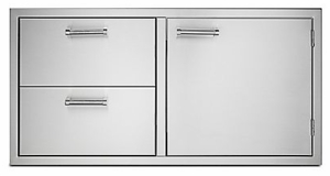 "VOADDR5420SS Viking 42"" Outdoor Double Drawer and Access Door Combo - Stainless Steel"