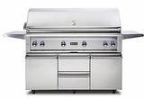 "VQGFS5540LSS Viking 54"" Professional 5 Series Liquid Propane Freestanding Grill and Cart with ProSear Burner and Rotisserie - Stainless Steel"