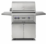 "VQGFS5300LSS Viking 30"" Professional 5 Series Liquid Propane Freestanding Grill and Cart with ProSear Burner and Rotisserie - Stainless Steel"