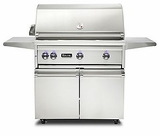 "VQGFS5360LSS Viking 36"" Professional 5 Series Liquid Propane Freestanding Gril and Cart with ProSear Burner and Rotisserie - Stainless Steel"
