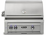 "VQGI5300NSS Viking Professional 5 Series 30"" Natural Gas Built-In Grill with ProSear Burner and Rotisserie - Stainless Steel"