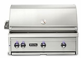 "VQGI5360NSS Viking Professional 5 Series 36"" Natural Gas Built-In Grill with ProSear Burner and Rotisserie - Stainless Steel"