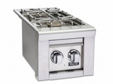"""VGSB5130LSS Viking 13"""" Professional 5 Series Liquid Propane Double Side Burners with Blue LED Illumination and Hot Surface Ignition - Stainless Steel"""