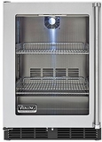 "VRCI5240GLSS Viking 24"" Undercounter Refrigerator with Forced Air Cooling System - Left Hinge - Stainless Steel - Clearance"