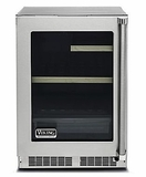 "VRUI5240GRSS 24"" Viking Professional 5 series Undercounter Compact Beverage Center with Electronic Controls and Dynamic Cooling Technologies - Right Hinge - Stainless Steel"