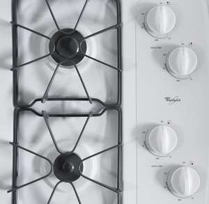 "W3CG3014XW Whirlpool 30"" Gas Cooktop - White"